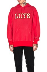 Sacai Hoodie In Red