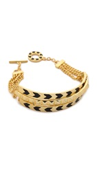 Noir Multi Path Bracelet Gold Black