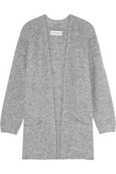 By Malene Birger Belinta Brushed Ribbed Knit Cardigan Gray