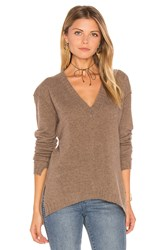 27 Miles Malibu Edolie Side Slit Sweater Brown