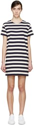 Nlst Navy And Cream Striped T Shirt Dress