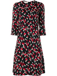 Marni Rhythm Print Midi Dress Black