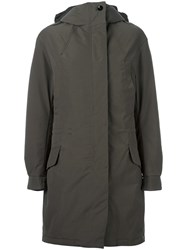 Hope Hooded Coat Green
