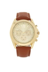 Forever 21 Faux Leather Chronograph Watch