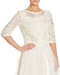 Marina Sequin Embellished Crop Top Compare At 129 Ivory