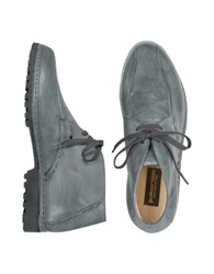 Pakerson Gray Handmade Italian Leather Ankle Boots