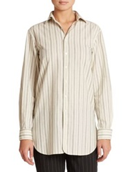 Polo Ralph Lauren Striped Jacquard Tunic Black Cream