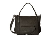 Steve Madden Distressed Tote Charcoal Tote Handbags Gray