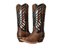 Ariat Gentry Narrow Square Toe Honey Estate Blue Cowboy Boots Brown