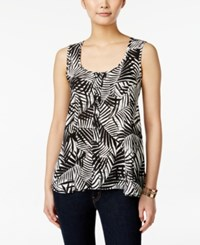 Styleandco. Style And Co. Petite Leaf Print Sleeveless Top Only At Macy's Palisade Palms