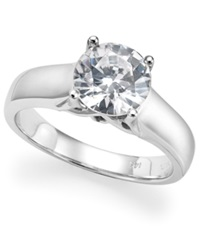 Macy's Certified Diamond Solitaire Engagement Ring In 14K White Gold 1 3 4 Ct. T.W.