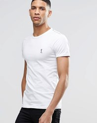 Religion Crew Neck T Shirt In Muscle Fit White