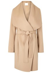 Hugo Boss Catifa Camel Wool Blend Wrap Coat