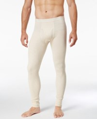 Alfani Men's Underwear Big And Tall Waffle Knit Thermal Long Underwear Pant Oatmeal Heather Beige
