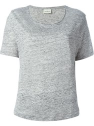 By Malene Birger Scoop Neck T Shirt Grey