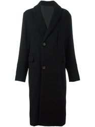 Christophe Lemaire Single Breasted Coat Black