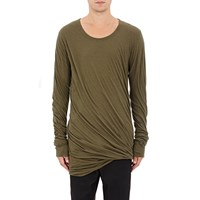 Rick Owens Twisted Layer T Shirt Olive