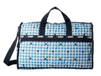 Le Sport Sac Large Weekender Checks And Bows Duffel Bags Blue