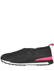 Hogan Rebel Glittered Wool Blend Slip On Sneakers