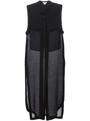 Helmut Lang 'Swift' Sleeveless Long Shirt Black