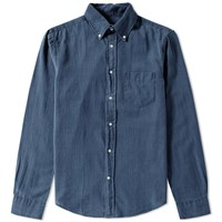 Gant Rugger Melange Twill Shirt Blue