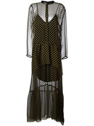 Petar Petrov Sheer Polka Dot Dress Black