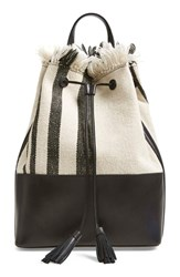 Loeffler Randall Canvas Drawstring Backpack