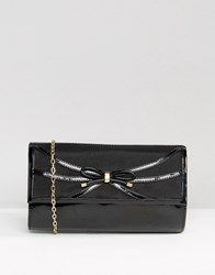 Lotus Clutch Bag Black Shiny