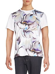 Standard Issue Nyc Flower Print Graphic Tee White