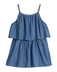 Chloe Sleeveless Chambray Popover Dress Denim