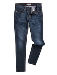 Racing Green Men's Marr Slim Fit Stretch Stone Wash Jeans Denim
