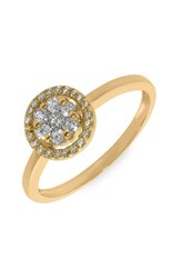 Women's Bony Levy Flower Diamond Stackable Ring Yellow Gold Nordstrom Exclusive