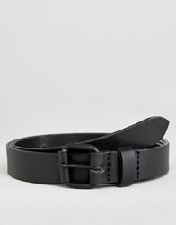 Asos Super Skinny Leather Belt Black