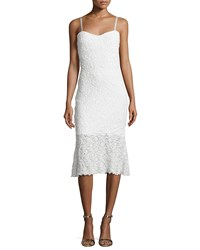 French Connection Havana Sweetheart Neck Lace Dress Summer White Women's