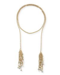 Kendra Scott Sloan Long Tassel Necklace Golden