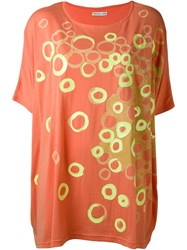 Tsumori Chisato Circle Print T Shirt Yellow And Orange