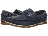 Skechers Relaxed Fit Eris Inaldo Navy Canvas Men's Shoes Blue