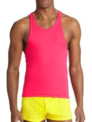 Dsquared Cotton Racerback Tank Pink