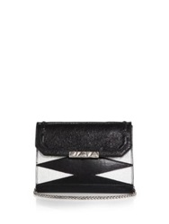 Dannijo Beckett Zigzag Shoulder Bag Black Silver