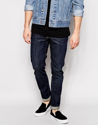 Weekday Jeans Friday Skinny Fit Snap Dark Blue