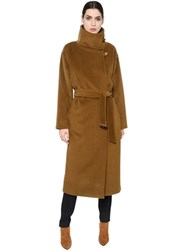 Max Mara High Neck Wool And Cashmere Belted Coat
