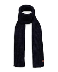 Bickley And Mitchell Chunky Turncuff Beanie Scarf Gift Set Navy