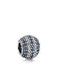 Pandora Design Pandora Charm Sterling Silver Cubic Zirconia And Crystal Blue Nautical Pave Lights Moments Collection Silver Blue Clear