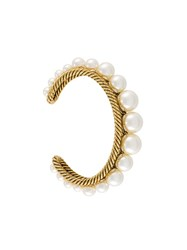 Marc Jacobs 'Pearl Rope' Cuff Metallic