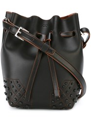 Tod's Small 'Wave' Bucket Tote Black