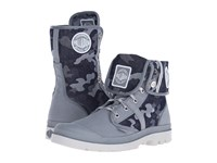 Palladium Pallabrouse Bgy Extx Monument Dawn Blue Lace Up Boots Gray