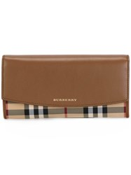 Burberry Classic Checked Wallet Nude And Neutrals