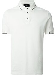 Stone Island Shadow Project Contrasting Stripes Polo Shirt White