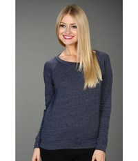Alternative Apparel Eco Heather Slouchy Pullover Eco True Navy Women's Long Sleeve Pullover