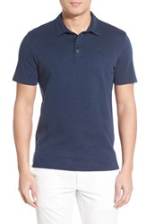Men's Vince Camuto Trim Fit Heathered Polo Navy